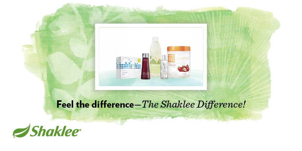 Feel the Shaklee Difference