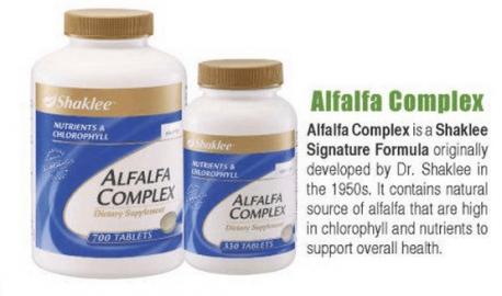 Shaklee Review: Shaklee Alfalfa Complex