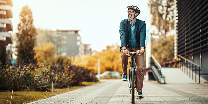 Go green on a bike